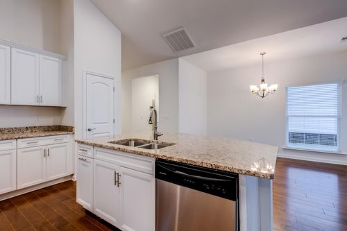 The Colonnade Villa Home kitchen Cornerstone Homes