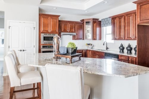 The Ducal villa Home Kitchen Furnished Model Cornerstone Homes
