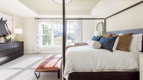 natural lighting tray ceiling queen bed
