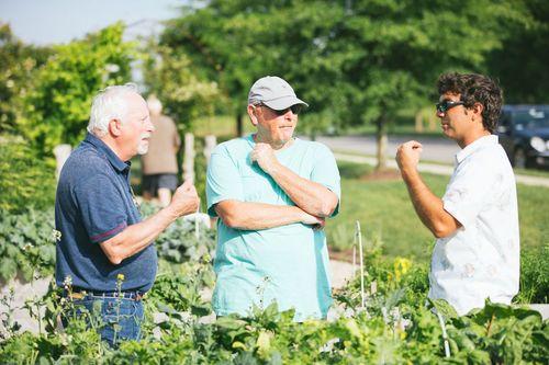 Cooking Demo Farmer and neighbors Cornerstone homes