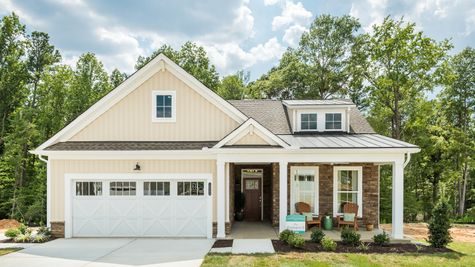 Exterior photo of Washington II by Cornerstone Homes at Chickahominy Falls