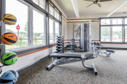 Barley Woods Fitness Center free weights 55+ Living