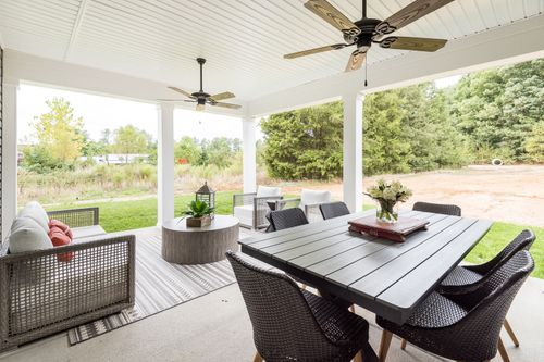 covered patio model home outdoor living space
