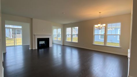 Great Room; Dual-Sided Fireplace