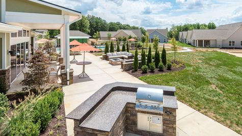 Barley Woods 55+ Clubhouse Patio Grill Amenity