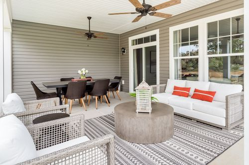 model home covered patio