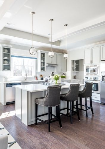 The Washington Gourmet Kitchen Furnished White Cabinets Lighting