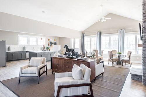 Ashlake Clubhouse Kitchen 55+ Living Cornerstone Homes Amenity