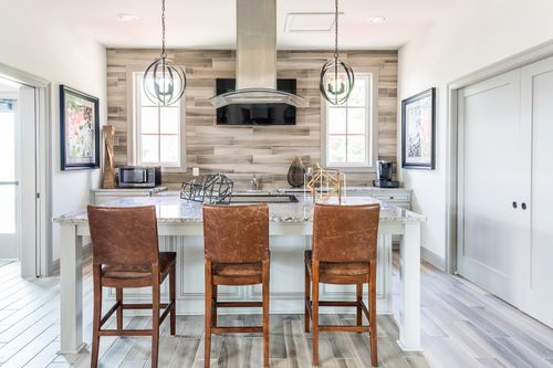 Barley Woods Clubhouse Kitchen Barstools island range resort style amenities Cornerstone Homes