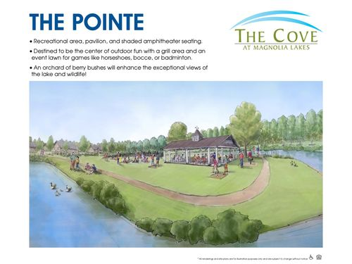 The Cove at Magnolia Lakes Pointe Rendering recreational area pavilion on the lake