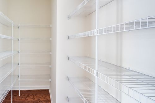 The Charlotte Walk-in Pantry Kitchen shelving Cornerstone homes