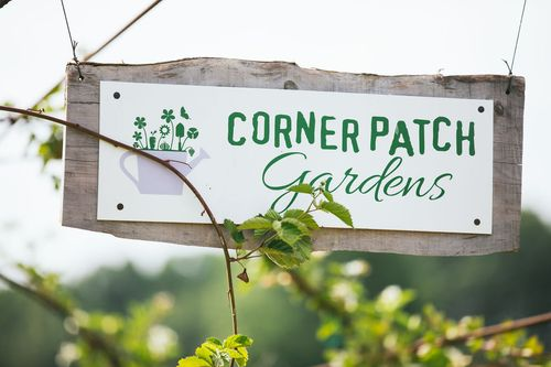 Corner Patch Gardens Sign Cornerstone Homes