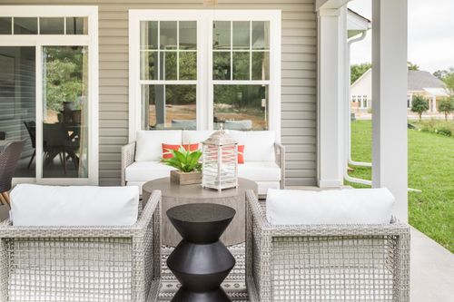 model home covered patio outdoor living