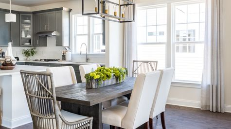 open floor plan dining table light fixtures