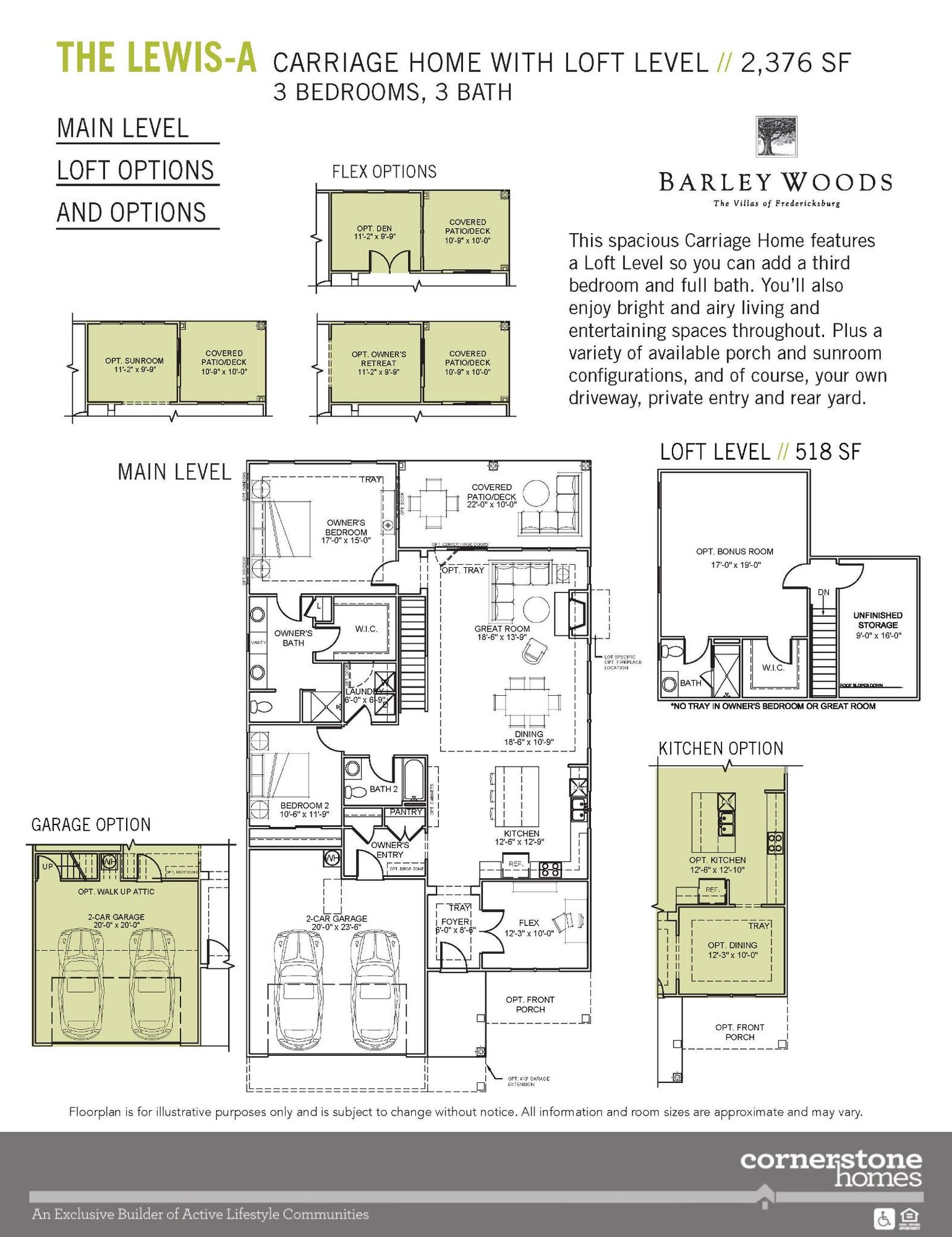 The Lewis w/Loft Level - Barley Woods