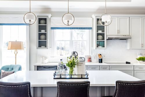 The Washington Gourmet Kitchen White Cabinets island Cornerstone Homes