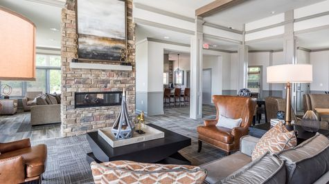 Barley Woods 55+ Clubhouse Amenity Sitting Area