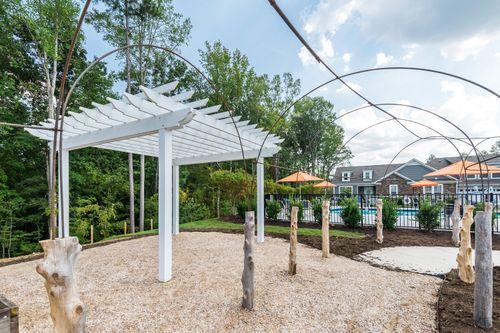 Ashlake Garden overlooking Pool 55+ Living Cornerstone Homes Resort style amenities