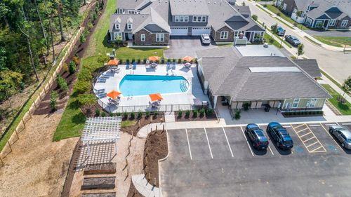 Ashlake Clubhouse Aerial View Corner Patch Gardens Resort Style Amenities 55+ Living
