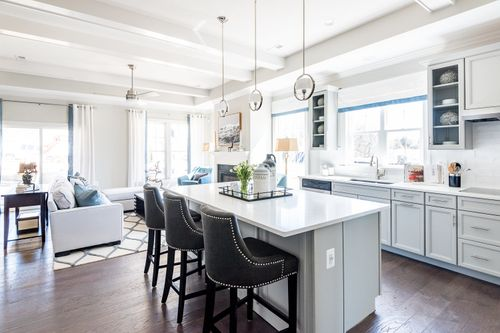 Washington Gourmet Kitchen Open Floor Plan White Cabinets Cornerstone Homes 55+ Living