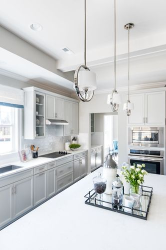 The Washington white cabinets gourmet kitchen cornerstone homes
