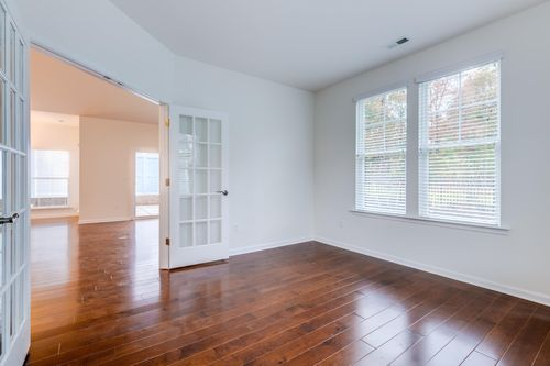 Flex space in colonnade hardwood floors french doors