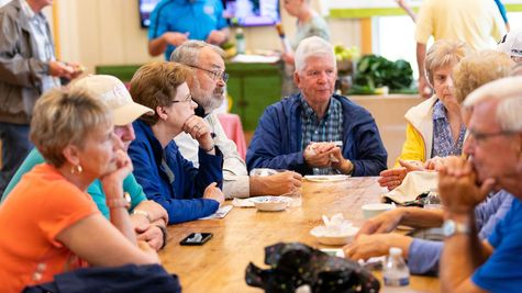 Residents of Chickahominy Falls socializing