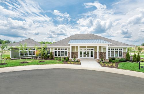 Barley Woods Clubhouse Exterior Front view 55+ Living resort style amenities Cornerstone Homes