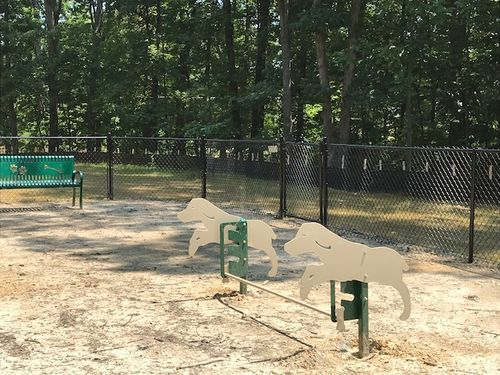 Barley Woods Dog Park fenced in Cornerstone Homes 55+ Living