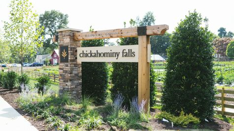 Chickahominy Falls Entrance Monument