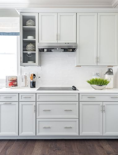 The Washington Gourmet Kitchen Stove and Range White Cabinets Cornerstone Homes