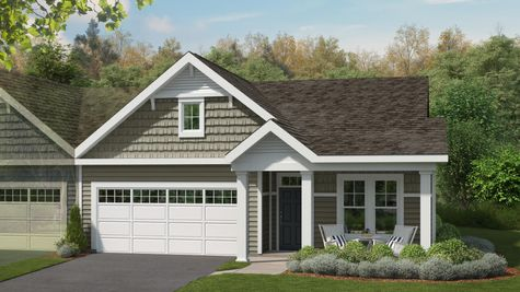 Cove at Magnolia Lakes New Home 55+ Elevation Exterior Rendering