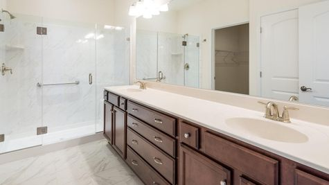 55+ Paired Home Cornerstone Homes Master Bath Owner's Suite