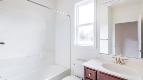 55+ Cornerstone Homes Paired Home Guest Bathroom Full Bath