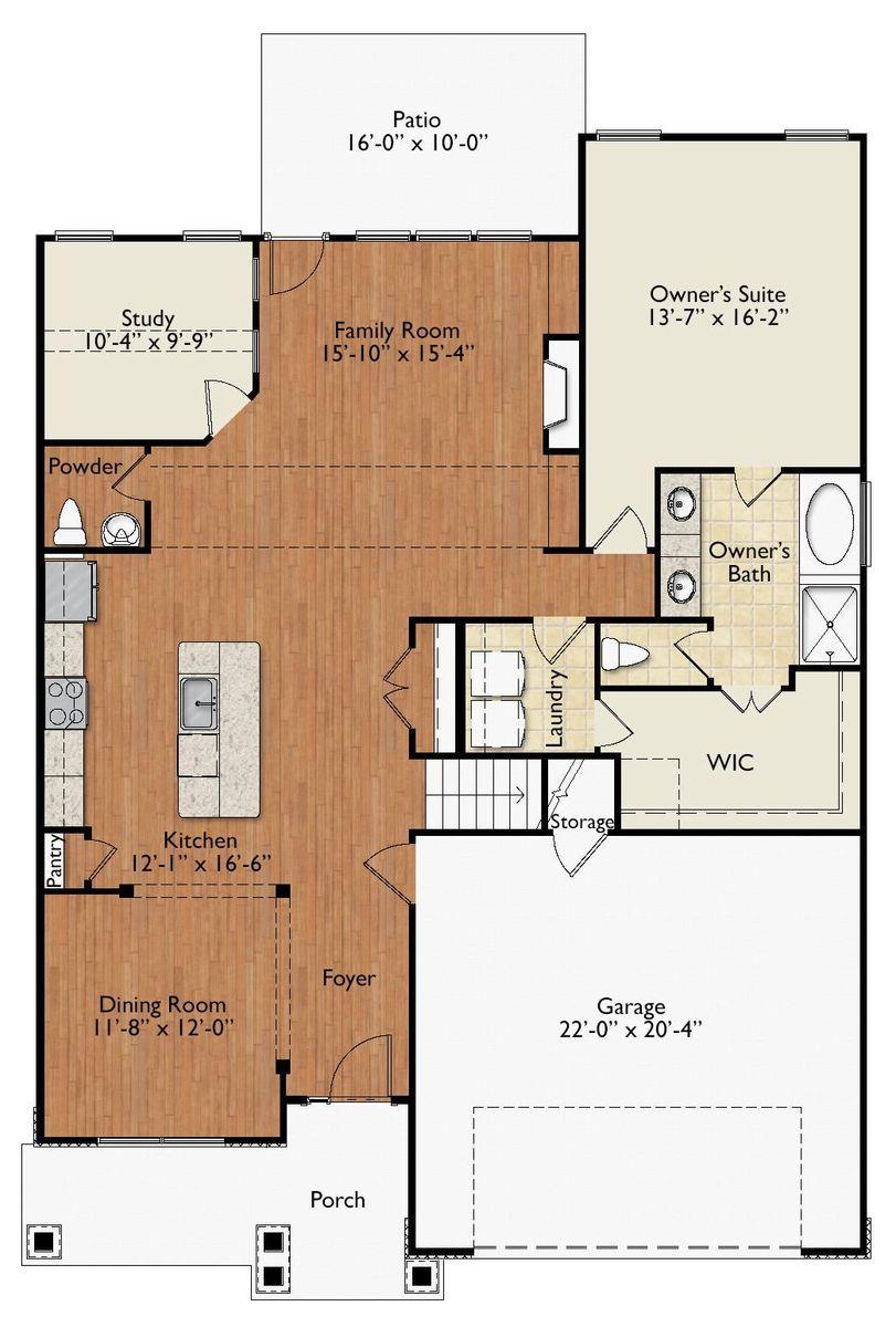 Morgan B First Floor Plan