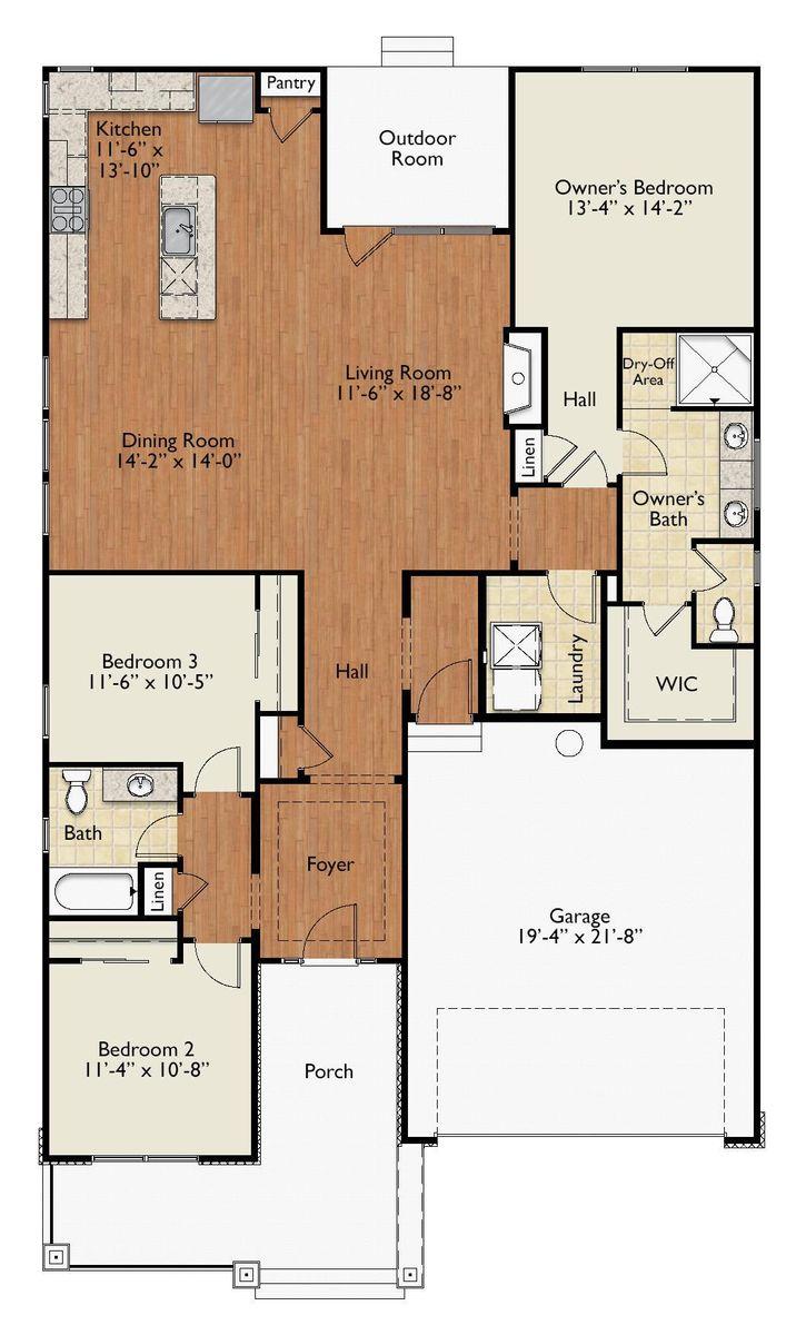 Newcastle E Floor Plan.