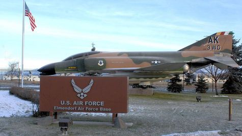 Elmendorf Air Force Base Sign Outside Of Government Hill Gate