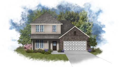 Willowbrook III A - Front Elevation - Open Floor Plan