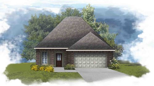 Fareham IV H - Front Elevation - DSLD Homes