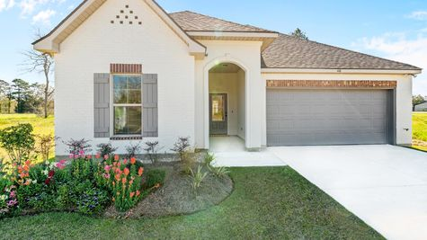 Model Home Exterior - Talon Estates - Broussard, Louisiana - DSLD Homes