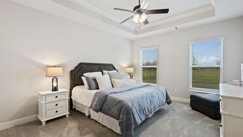 Jamestown Crossing - Domenico II A Plan - Prairieville, LA - DSLD Homes - Model Home Master Bedroom