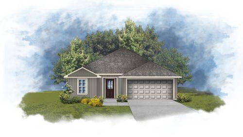 DSLD Homes - Wade III G Floorplan Front Elevation Image