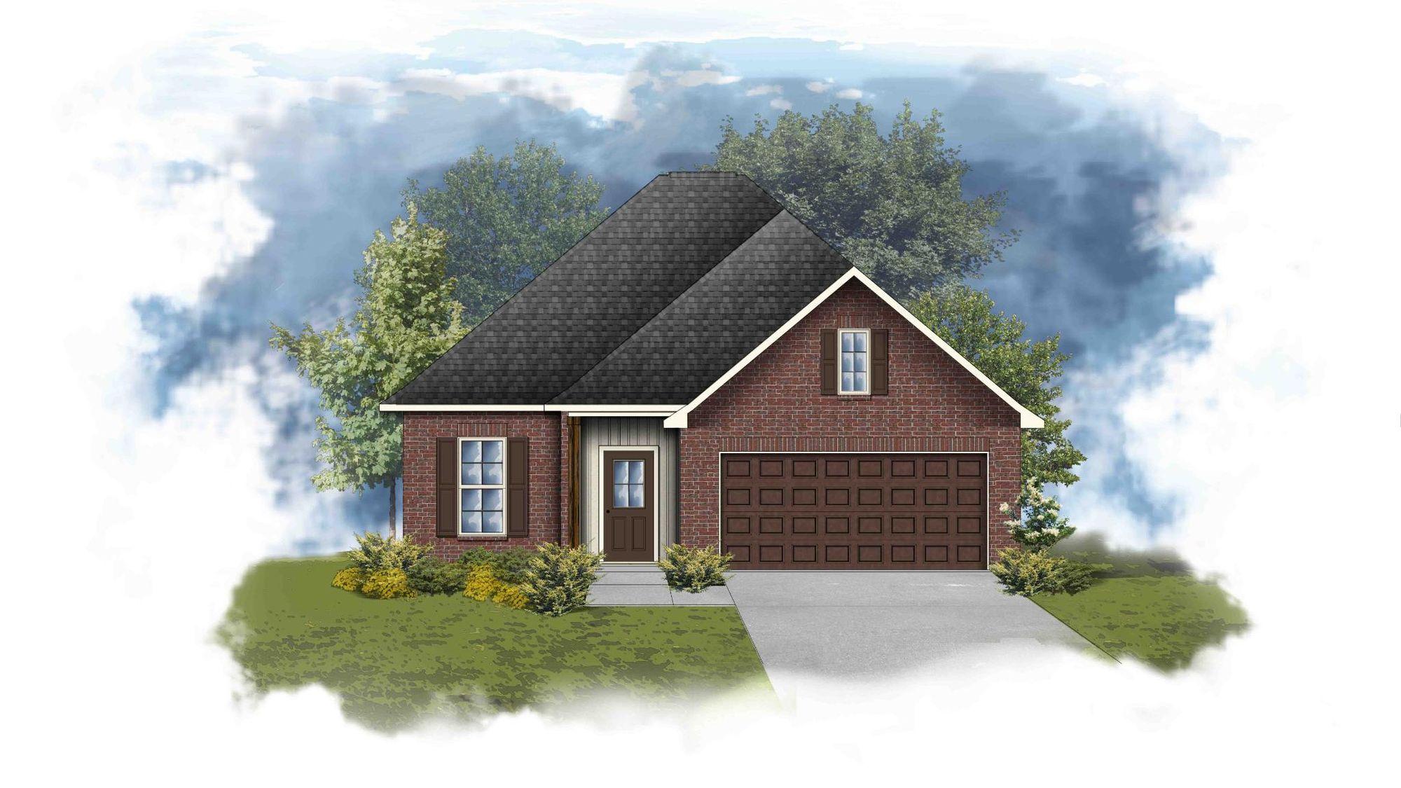Danbury III G - Front Elevation - DSLD Homes