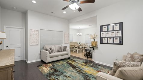 Olde Towne Model Home Living Room- Olde Towne Community - DSLD Homes Thibodaux