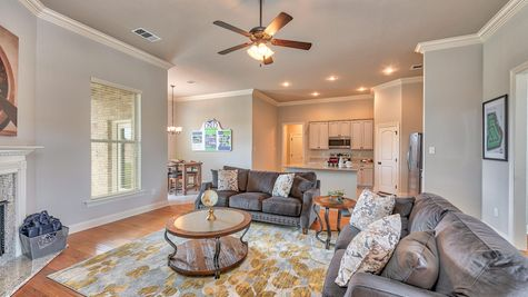 Living Room with Decor - Lucien  Estates - DSLD Homes Shreveport