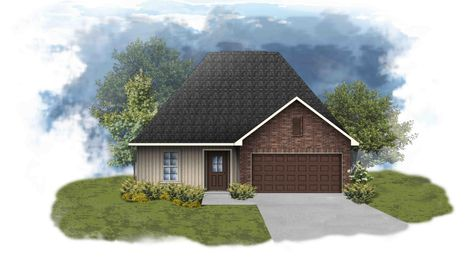 Newton III G - Front Elevation - DSLD Homes