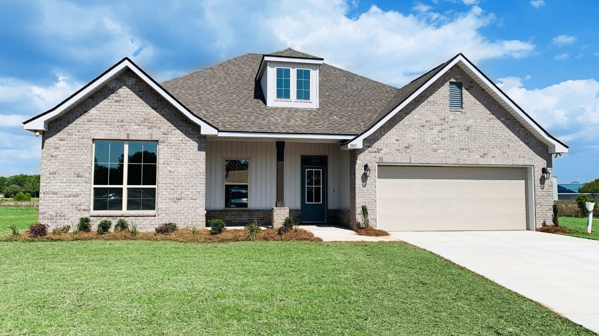 Front View (Collinswood II G) - Lafayette Place Community - DSLD Homes - Foley, AL