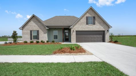 Front of Model Home - New Homes Construction - DSLD Homes Pelican Crossing Gonzales