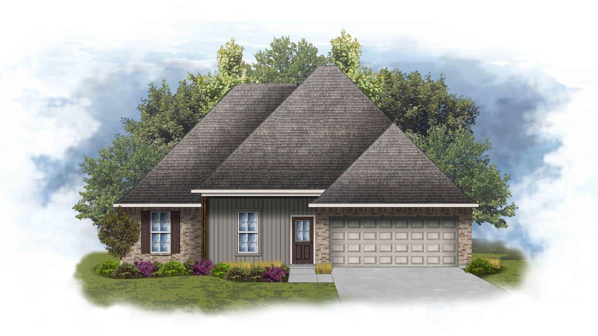 DSLD Homes - Iris IV Open Floorplan Elevation Image