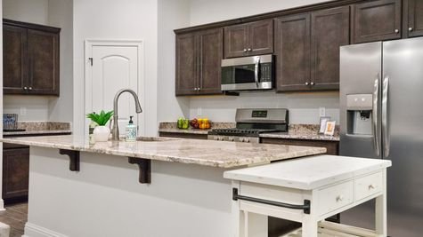 Kitchen in Model Home - DSLD Homes - Alexander Ridge in Covington